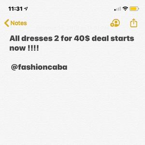 Dresses 2 for 40 $ bundle and save